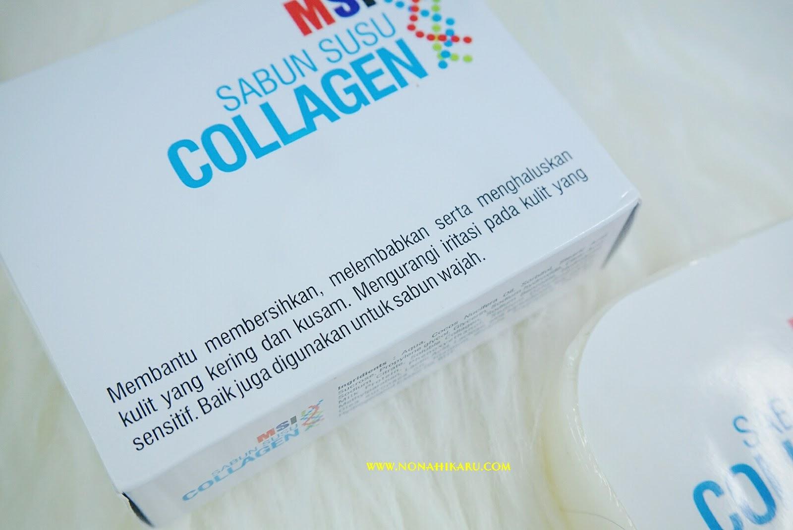 Review Msi Skincare Multy Spray Collagen Fruit Serum Dan Produk Herbal Sabun Kologen Sayangnya Gak Ada Yang Special Dari Kemasan Ini Bentuknya Sama Seperti Batang Pada Umumnya Beratnya 100 Gram Akupun Agak Kurang Suka Dengan