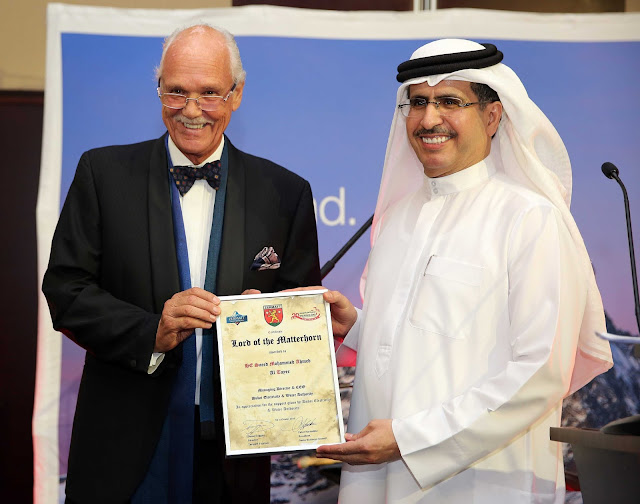 HE Saeed Mohammed Al Tayer receives prestigious Lord of Matterhorn Award from Swiss Business Council