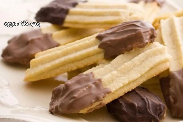طريقة عمل بسكويت النشادر بالشوكولاته