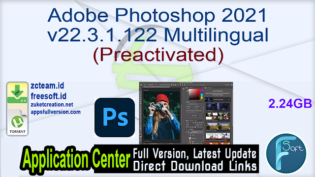 Adobe Photoshop 2021 v22.3.1.122 Multilingual (Preactivated)