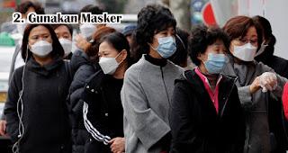 Gunakan Masker saat bekerja dikantor ditengah Wabah Virus Corona