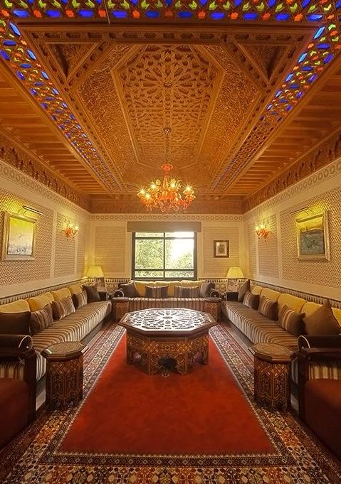 ديكورات مجالس رجال مغربية