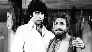 amitabh bachchan and pran in film 'zanjeer'