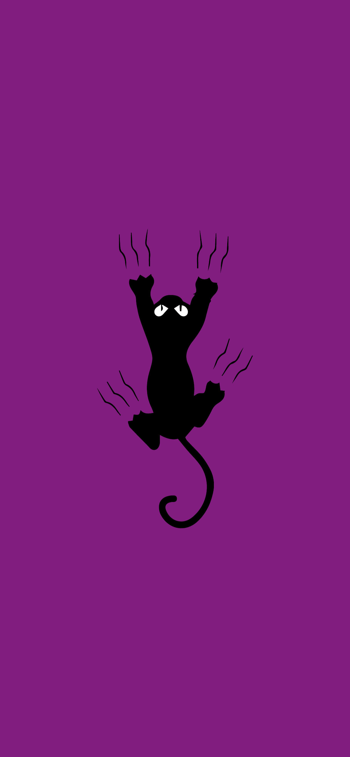 cat scratching minimalist wallpaper purple hd for phone