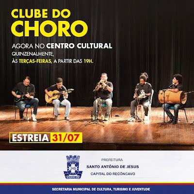 CULTURA: Centro Cultural é a nova casa do Clube do Choro