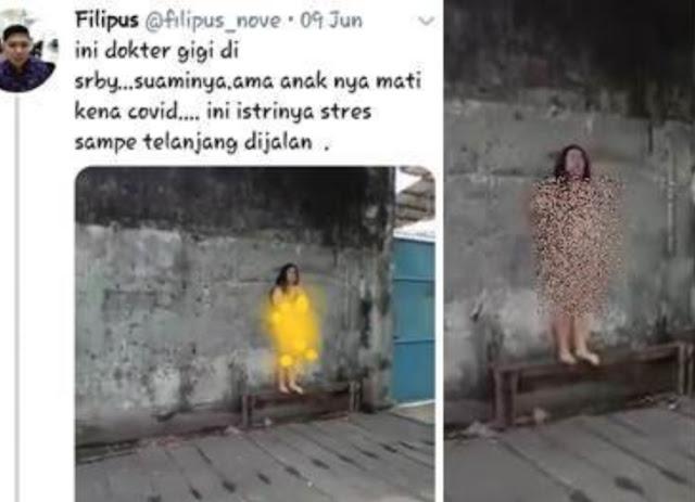 Bukan Karena Covid-19, Perempuan Disebut Dokter yang Tanpa Busana Karena Depresi, Penyebar Video Terancam Pasal Berlapis