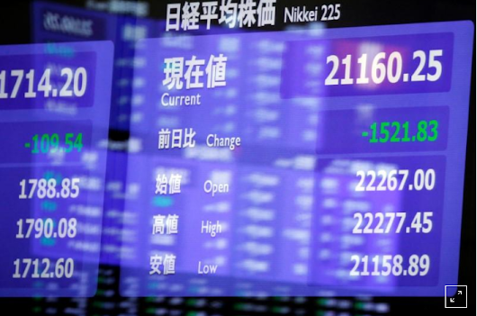 World stocks slip as trade tensions and central bank expectations dampen mood
