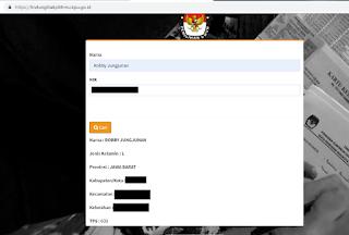 cara cek nama dan tps secara online