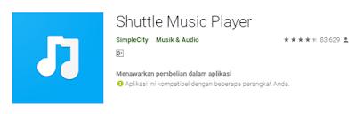 shuttle musik player