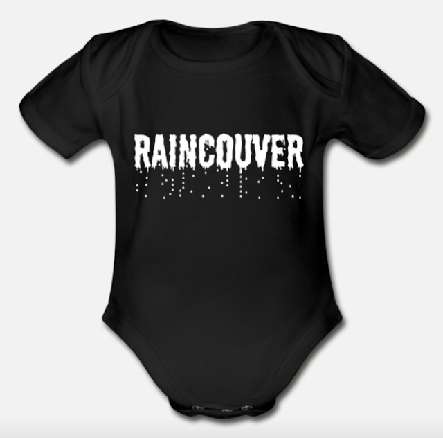raincoiuver vancouver organic short sleeve bodysuit baby clothing