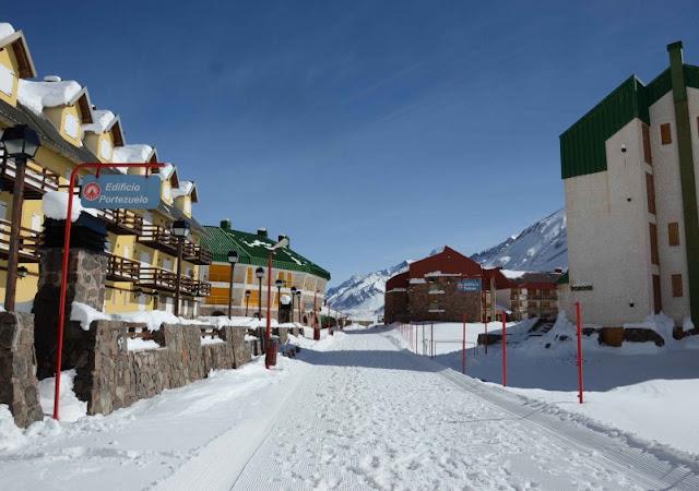 Pista de esqui Penitentes na Argentina