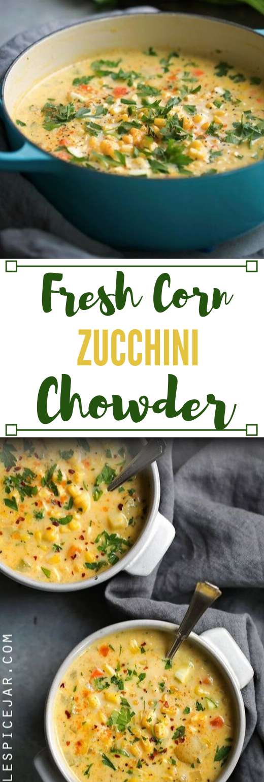 FRESH CORN ZUCCHINI CHOWDER #cauliflower #mushroom #vegan #vegetarian #easy