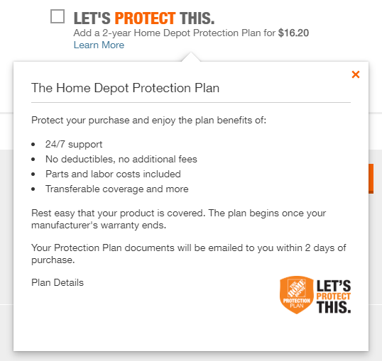 The Home Depot product warranty #ad