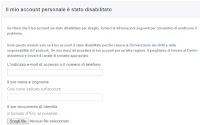 Come recuperare l'account Facebook disattivato o bloccato