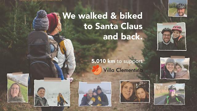Quares medewerkers wandelen en fietsen 5.010km voor Villa Clementina uit Zemst.