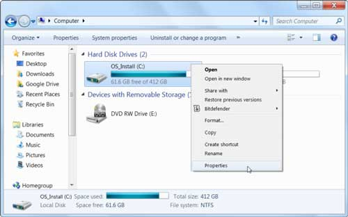 cara mengosongkan ruang hardisk di pc-laptop windows