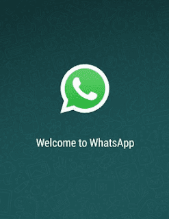 image of whatsapp showing welcome message