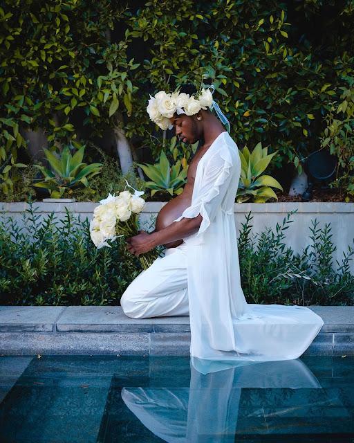 Lil Nas X reveals he is pregnant as he shares his maternity photos (Photos)