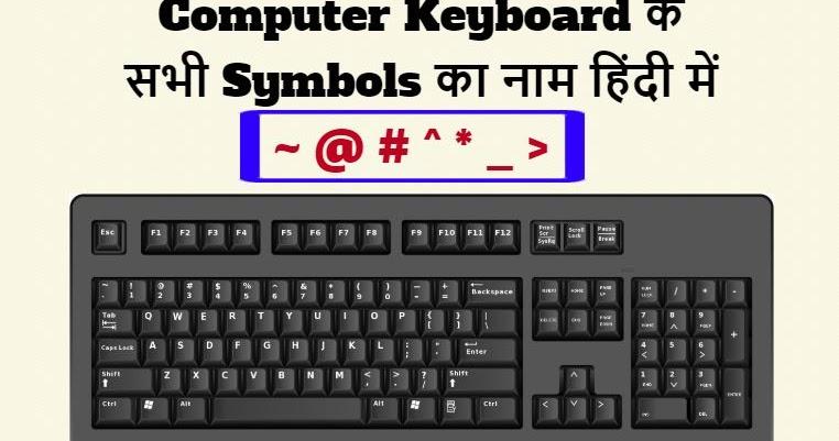 कीबोर्ड के सभी सिंबल/स्पेशल