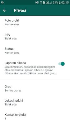 Blokir Kontak WhatsApp Berhasil