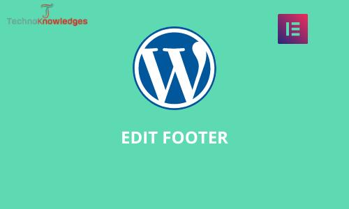WordPress footer edit