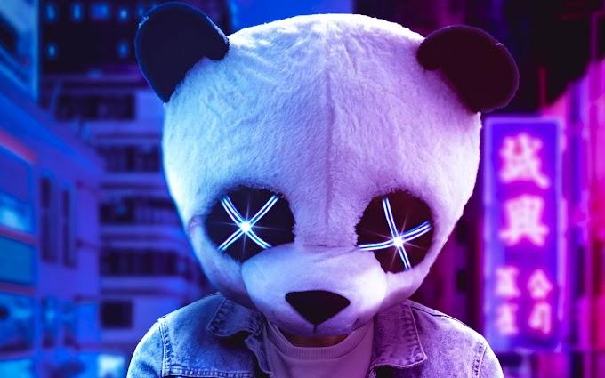 Anônimo com Máscara de Panda