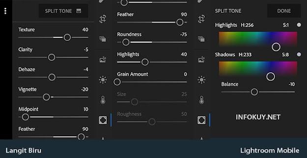 EFFECT & Split Tone - Cara Edit Langit Biru di Lightroom