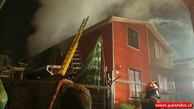 Incendio deja una familia damnificada