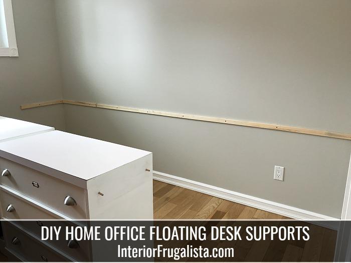 DIY Wall Mount Home Office Desk
