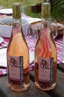 Vino rosado del Domaine de Rocheville.