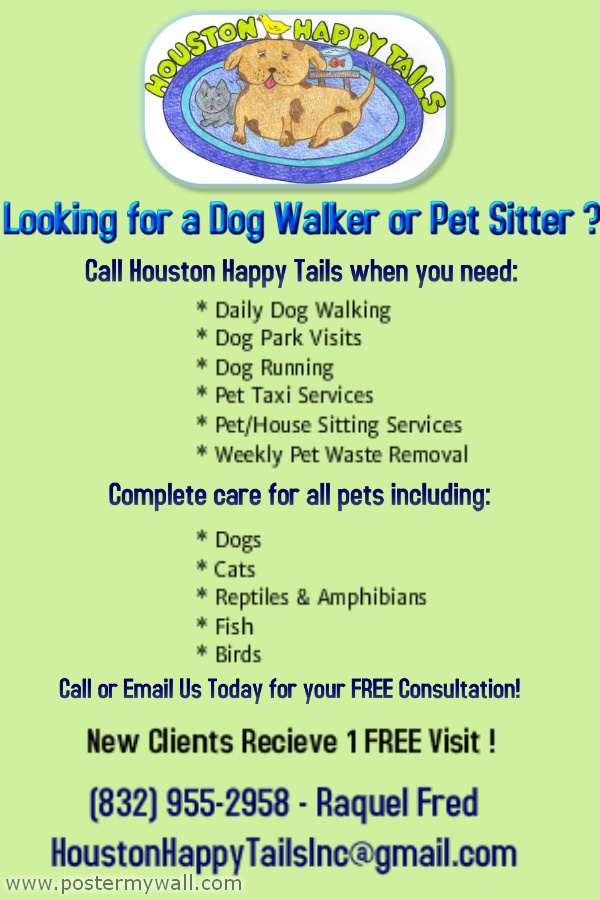 Houston Heights/ Garden Oaks Dog Walking  Pet Sitting