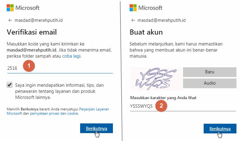 Excel Online Buat akun Microsoft