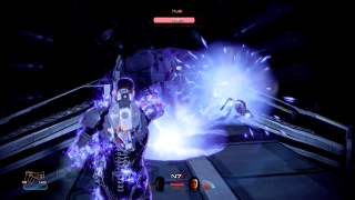 An adept destroying the competition in Mass Effect
