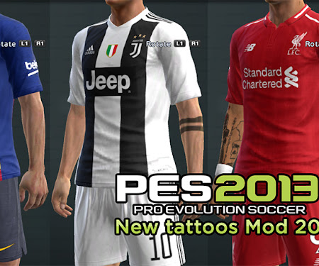 PES 2013 New Tattoo MOD 2019 For All Player