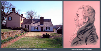 James Monroe. 5th President of the United States. Highland. Charlottesville, Virginia. by Travis Simpkins