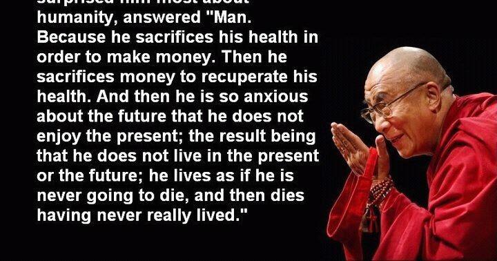 why is the dalai lama living