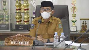 Wali Kota Bima Ikuti Rapat Monitoring & Evaluasi MCP Triwulan ke-3 Tahun 2021