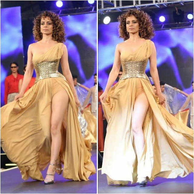 Kangana Ranaut Walked The Ramp For Live Creme Launch
