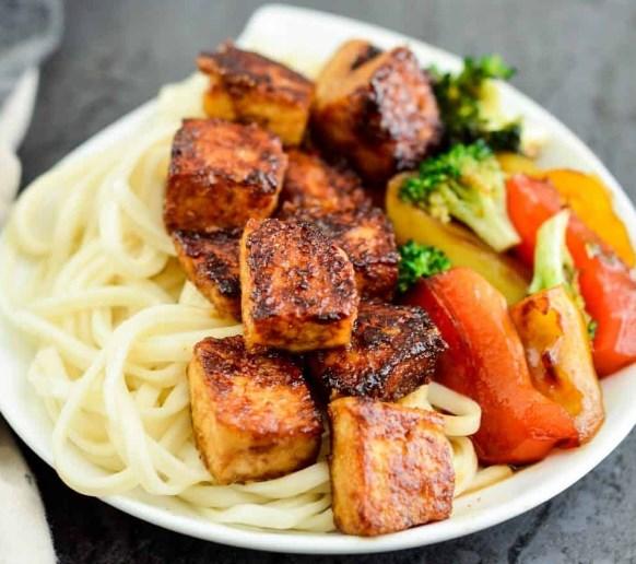 CRISPY TOFU WITH HOISIN SAUCE #vegetarian #dinner