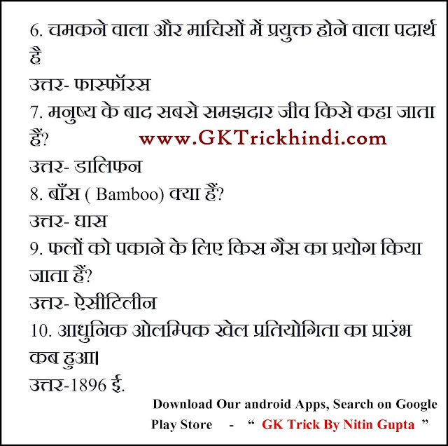 Free GK Trick By Nitin Gupta