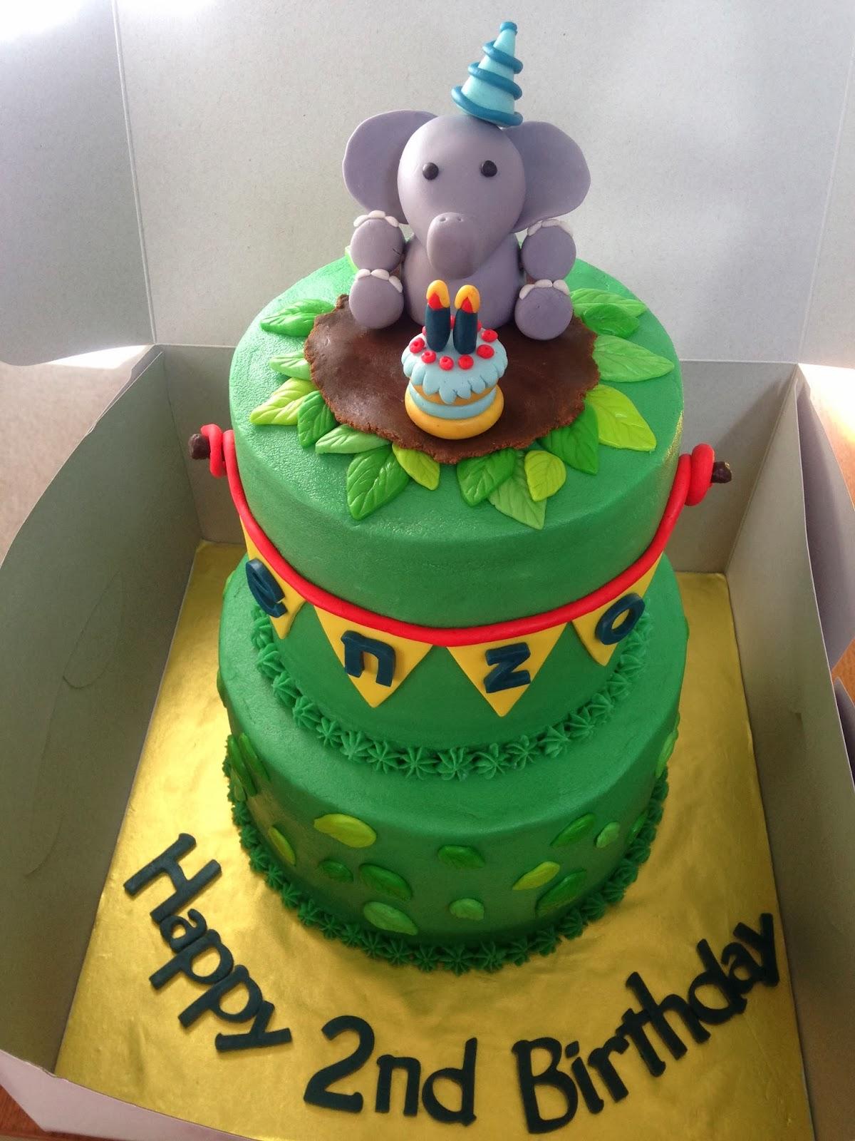 Joyce Gourmet Baby Elephant 2nd Birthday Cake
