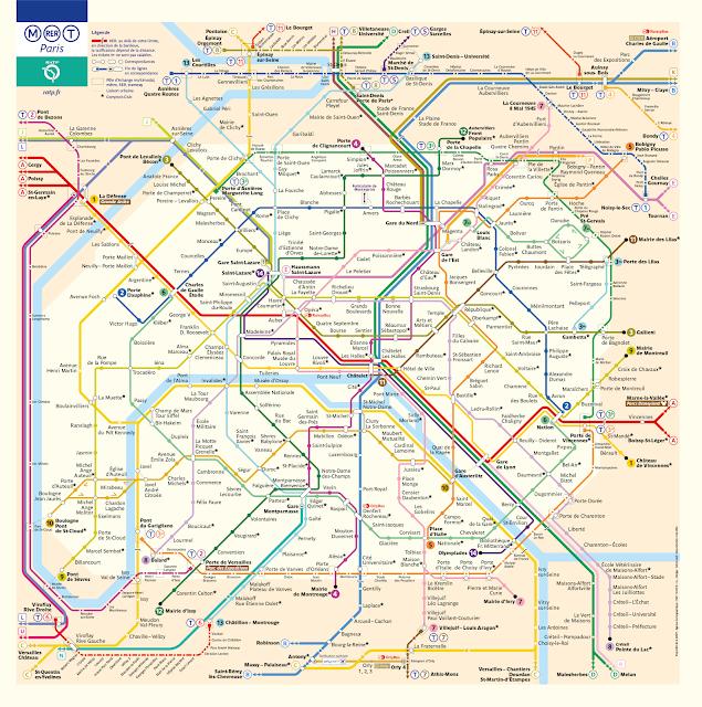 Mappa della metropolitana di Parigi