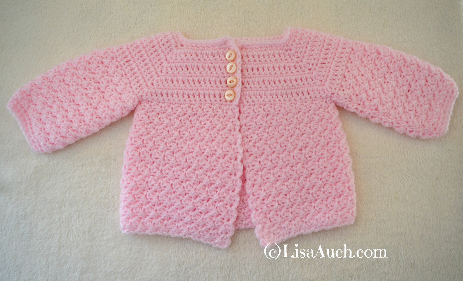 4a3b610bbaeb Free Crochet Patterns and Designs by LisaAuch  Crochet Baby Cardigan ...