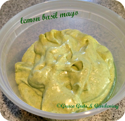lemon basil mayonaisse