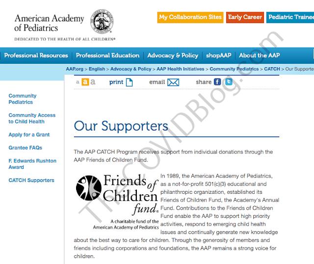 Associazione Americana di Pediatria cerca di nascondere i finanziamenti della Pfizer
