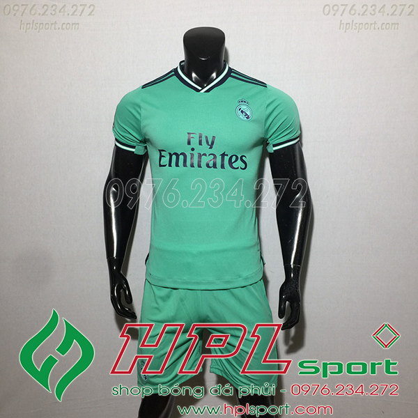 Áo câu lạc bộ Real màu xanh 2020