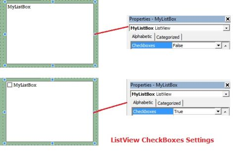 ListView CheckBoxes Setting in VB6.0