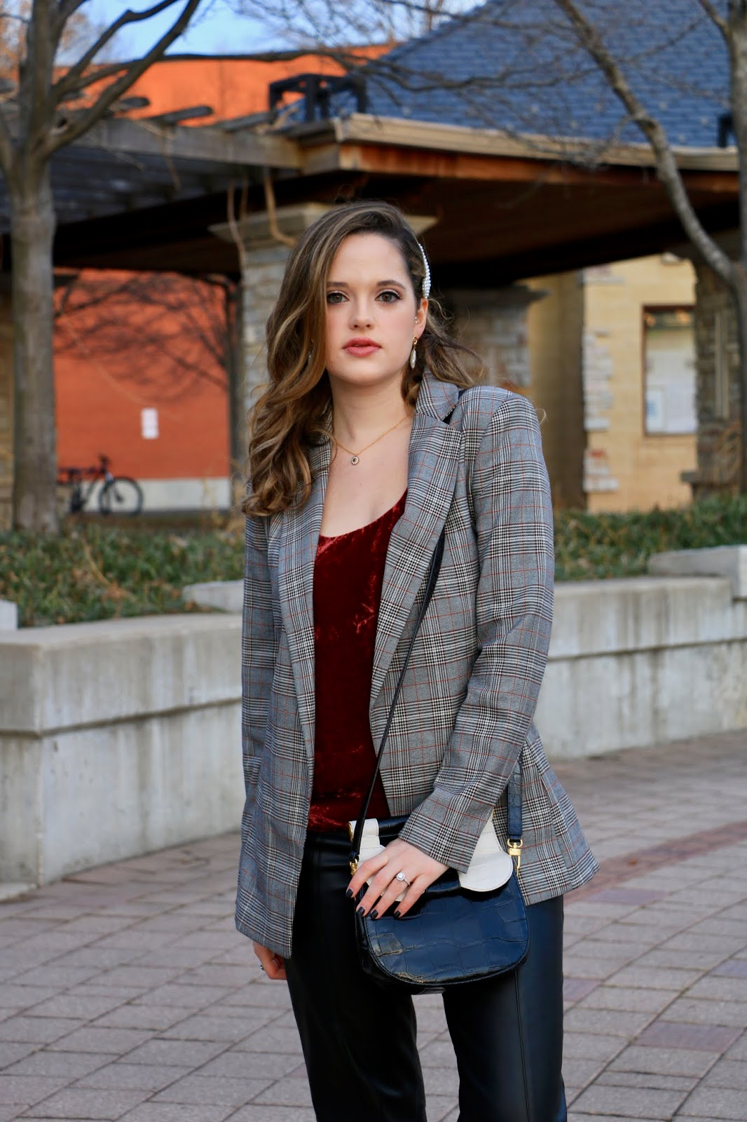 Nyc fashion blogger Kathleen Harper's winter outfit idea for date night.