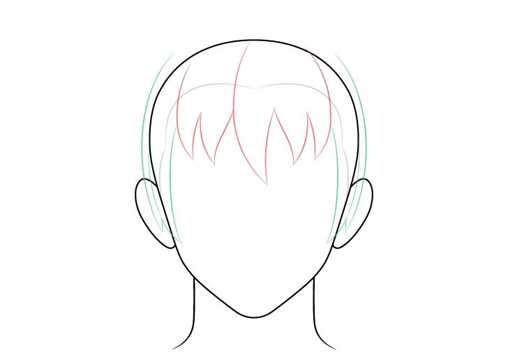 Gambar sisi rambut pria anime