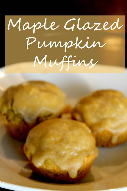 fall muffins with maple glaze